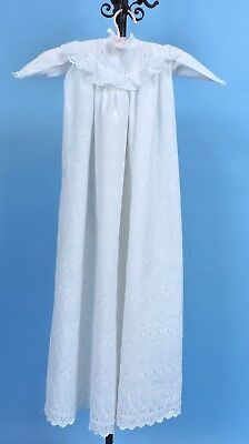Antique Victorian 19Th C Child'S Christening Dress W Dense Embroidery
