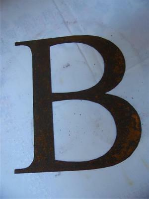 Fabulous Vintage Rustic Chic Large Rusty Metal Capital Letter B Font Home Garden