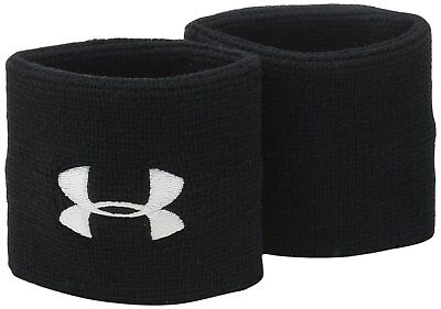 "Under Armour Men's 3"" Performance Wristbands, Black (001)/White, One Size"
