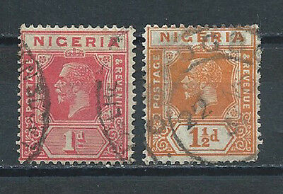 Nigeria , 1914/27 , No 19 & 20 , King George V , Set Of 2 Stamps  Perf , Used
