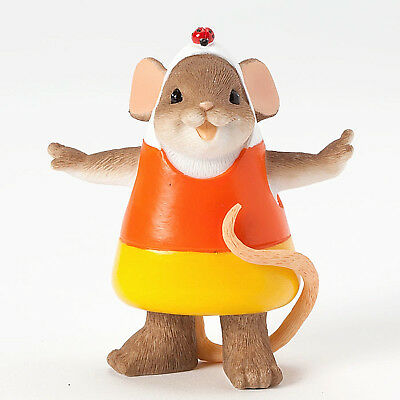 Charming Tails~Mouse In Candy Corn Costume~Corny But Sweet~Nib~Halloween~4041156
