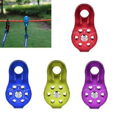 Lifting Swivel Rescue Pulley Climbing Fixing Rope Pulley Block Hanging Wire WY