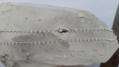 925 Italian Made Solid 925 Sterling Silver 2mm belcher/rolo chain 40-100cm