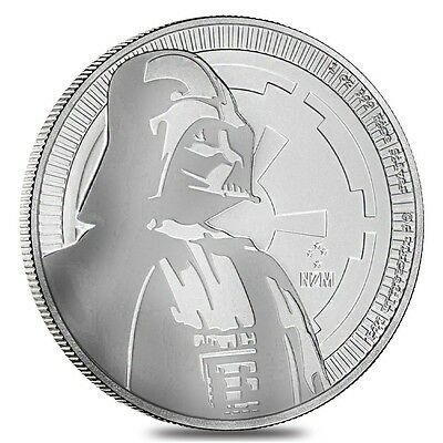 2017 Darth Vader Star Wars 1 oz Silver ~ Let the Force Be With You