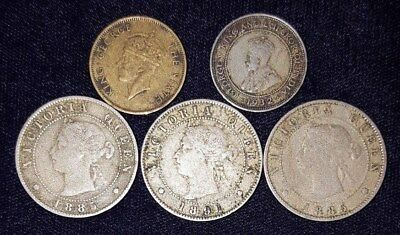 5 Coins from Jamaica.  1885-1950.  No Reserve!