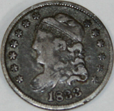 1833-P Capped Bust Half Dime [SN04]