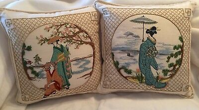 Pillows Dimensions 1108 Japanese Horizon & 1125 Oriental Blossoms Completed Pair