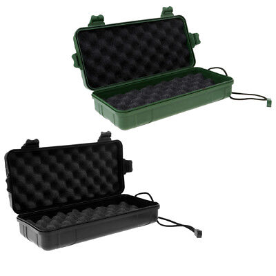 2 pcs Airtight Survival Storage Case Flashlight Torch Carry Box Container
