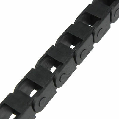 """40"""" Black Long Nylon Cable Drag Chain Wire Carrier R18 10mm x 10mm 1M 1000mm"""