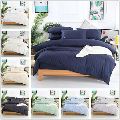 1000TC 100% Egyptian Cotton Stripe Quilt/Doona/Duvet set King Queen Double