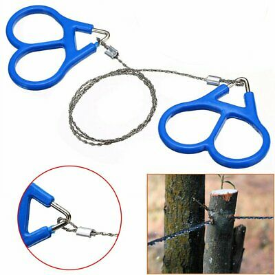 Survival Pocket Wire Saws Hand Chain Outdoor Stainless Steel EDC Tool Camping