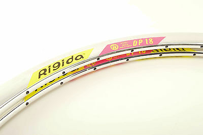 NEW Rigida DP18 silver polished clincher Rims 700c/622mm with 32 holes NOS