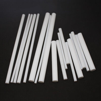100/200/300mm Long New White PTFE Teflon Round Rod Bar 5mm/6mm/8mm/10mm/12mm Dia
