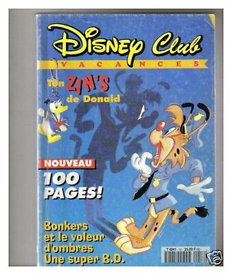 Disney Club Vacances N° 16  De 1994 Be+