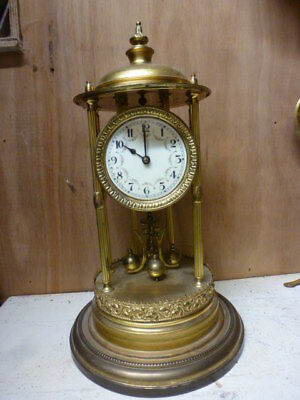 Large bandstand torsion year going anniversary clock c1900