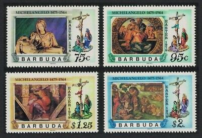 Barbuda Easter Paintings and Sculptures by Michelangelo 4v SG#390-393