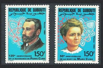 Djibouti Pierre and Marie Curie physicists 2v SG#939-940