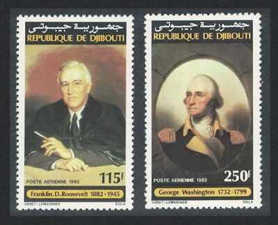 Djibouti George Washington Franklin D Roosevelt 2v SG#861-862