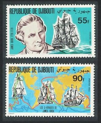 Djibouti Death Bicentenary 1979 of Captain James Cook 2v SG#799-800