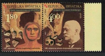 Croatia Centenary of Discovery of Remains of Early Man in Krajina pair