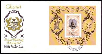 Ghana Royal Wedding FDC imperf - RARE SG#MS952imp