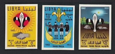 Libya 3rd Boy Scouts' Meeting Tripoli 3v Imperforated SG#278-280
