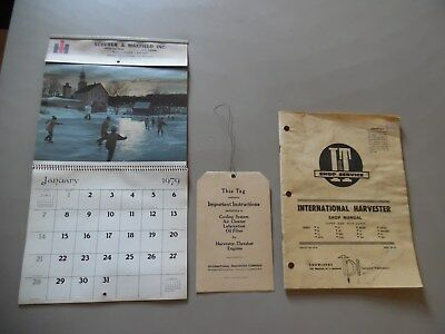 IH Farmall Tractor Shop IH-8 Service Repair Manual Thresher Hang Tag 79 Calendar
