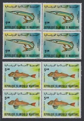Mauritania Fish 2v Blocks of 4 SG#634-634c SC#431A-431B