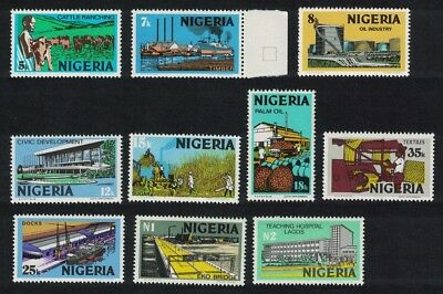 Nigeria Oil Cattle Cheetah Gas Cement Timber Definitives 10v insert 6 mm