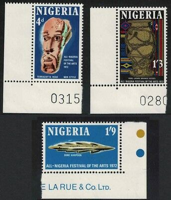 Nigeria All-Nigeria Arts Festival 3v Corners SG#277-79