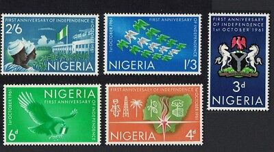 Nigeria Eagle Bird 1st Anniversary of Independence 5v SG#106-110