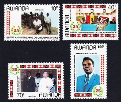 Rwanda 25th Anniversary of independence 4v SG#1293-1296 SC#1283-1286 CV£6.1