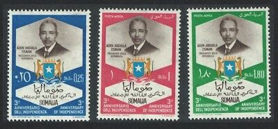 Somalia 3rd Anniversary of Independence Arms 3v SG#403-405