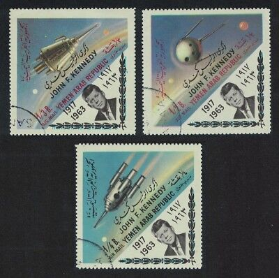 Yemen Space Exploration 3v CTO Overprint 'KENNEDY' SG#259-261