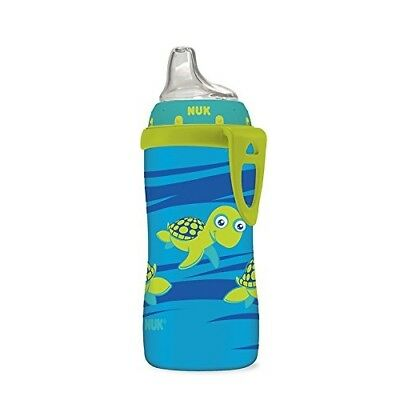 Nuk Cup Silicone Spout Active 10 Ounce Blue Turtle Baby 100% Proof Feeding Leak