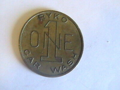 TOKEN Vintage Good For One RYKO Car Wash Token