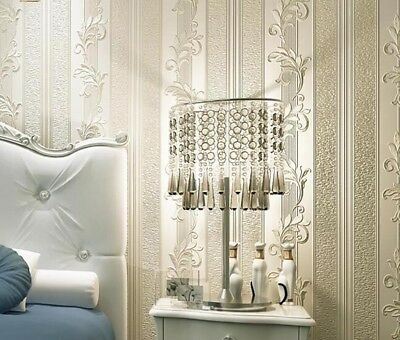 Striped Damask Wallpaper Luxury Bedroom Decor Living Rooms Modern Wall paper New