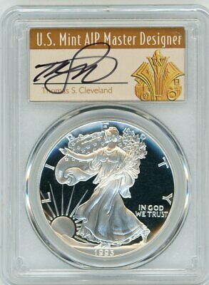 1993-P $1 Proof Silver Eagle PR70 PCGS Thomas Cleveland Art Deco