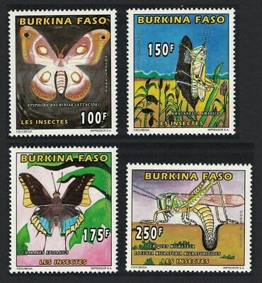 Burkina Faso Butterflies and Insects 4v SC#1065-1068