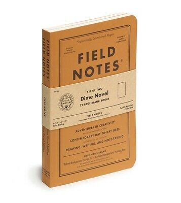 Quarterly Field Notes Dime Novel Sealed 2-Pack Notebooks Free Ship