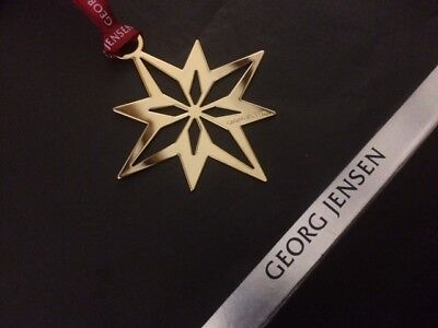 GEORG JENSEN LIMITED EDITION 2012 Christmas STAR Decoration 24k gold plated