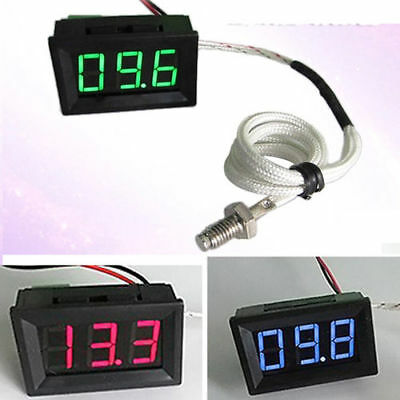 0℃+999℃ Thermocouple Digital LED Temperature Thermometer Panel Meter 12V 24V car