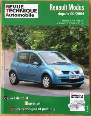 RTA Revue Technique Automobile Renault Modus essence ou diesel dci
