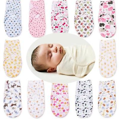 New Cotton Soft Baby Infant Swaddle Wrap Blanket Sleeping Bag For 0-6 Months 6A