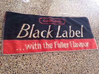 Carling Black Label Lager Beer Bar Hand Towel Pub British Smith Hargreaves