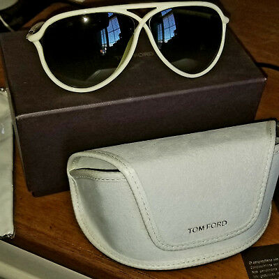 13319eabe4 NEW Tom Ford Sunglasses Maximillion TF 206 25F Shiny Ivory Brown Gradient