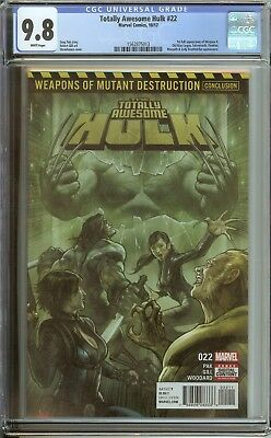 Totally Awesome Hulk #22 Cgc 9.8 White Pages // 1St Full Appearance Of Weapon H