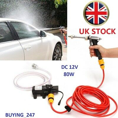 Car Pressure Washer Power Pump 12V 80W Self-priming Electric Wash Kit Portable