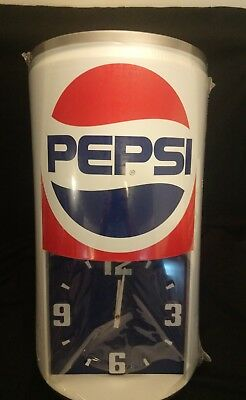 "New and Sealed Vintage Pepsi Can Clock - Large Can Style 23"" Tall"