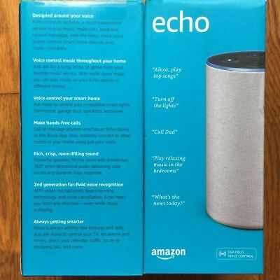 Brand New Amazon Echo (2nd Generation) Smart Assistant - Sandstone Fabric
